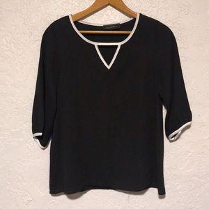 UO black keyhole blouse